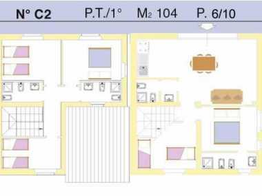 Ferienwohnung C2 (Ferienwohnung, 10 Personen)
