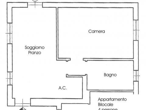 2-ух комнатные апартаменты 4 (апартамент типа ночлег и завтрак, 4 человека)