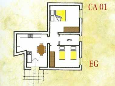 CARMIGNANO ROSSO (апартамент, от 4 до 6 человека)