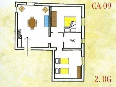 CORTONA SANGIOVESE (апартамент, от 4 до 6 человека)