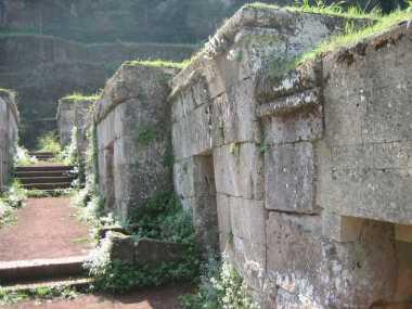 Die Nekropole in Orvieto